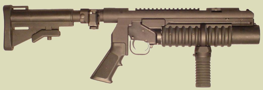 RM Equipment developed the Tactical Mounting system for the M203 40mm Grenade Launcher.