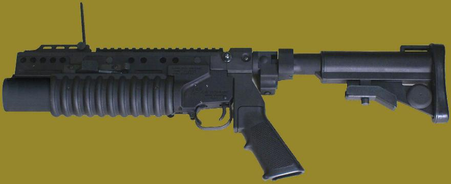 M203PI 40mm Grenade Launcher EGLM attached to the standalone